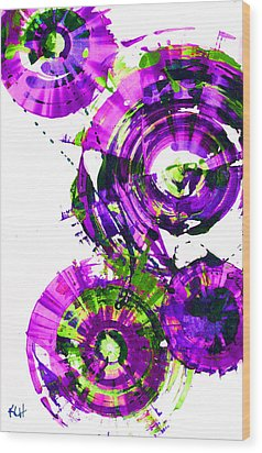 Wood Print featuring the digital art Playing In The Wind 1000.042312 - Popart-3 by Kris Haas