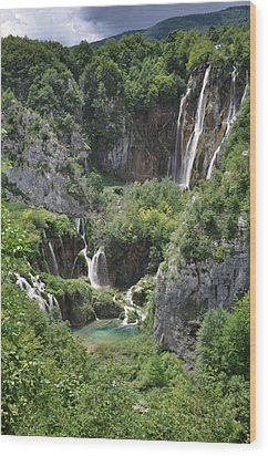 Wood Print featuring the photograph Plitvice Lakes National Park by Laura Melis