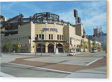 Pnc Park - Pittsburgh Pirates Wood Print by Frank Romeo