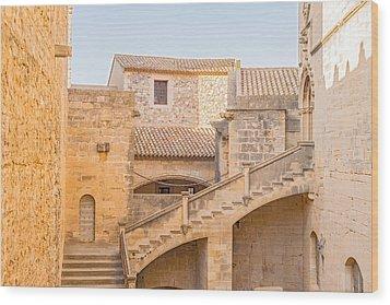 Poblet Monastery Near Barcelona In Catalonia Spain Wood Print by Marek Poplawski
