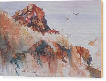 Point Lobos Precipice Wood Print by John  Svenson