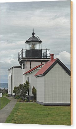 Wood Print featuring the photograph Point No Point Lighthouse by E Faithe Lester