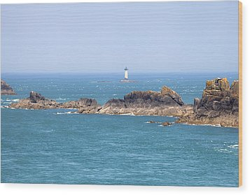 Pointe Du Grouin - Brittany Wood Print by Joana Kruse