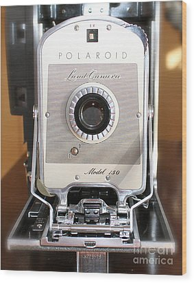 Polaroid Land Camera Wood Print