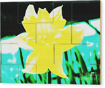 Pop Yellow Wood Print by Arlene Carmel