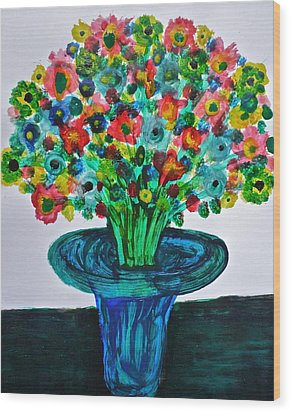 Poppies And Wildflowers Wood Print by Gregory Young