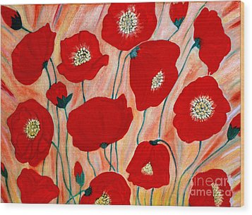 Poppies. Inspirations Collection. Wood Print