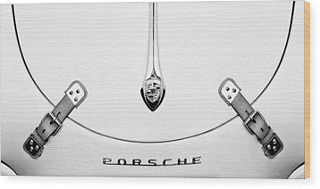 Porsche 1600 Hood Emblem Wood Print