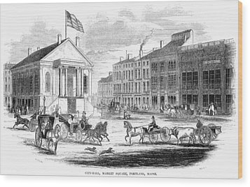 Portland, Maine, 1853 Wood Print by Granger