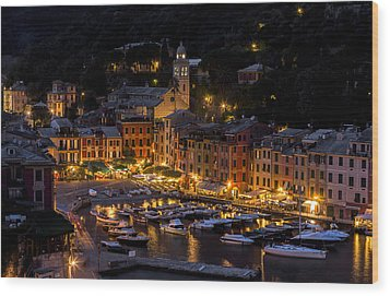 Wood Print featuring the photograph Portofino Italy - Hi Res by Carl Amoth