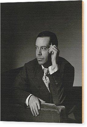 Portrait Of Cole Porter Wood Print by Horst P. Horst