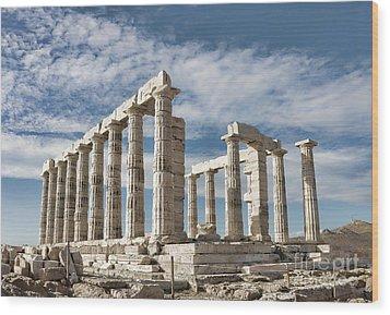 Poseidon's Temple Wood Print by Gabriela Insuratelu