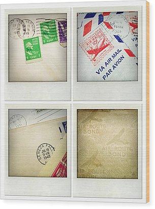 Postal Still Life Wood Print by Les Cunliffe