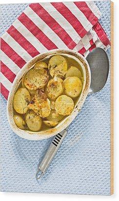 Potato Dish Wood Print by Tom Gowanlock