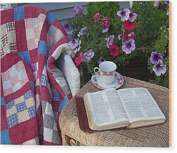 Prayer Chair Wood Print