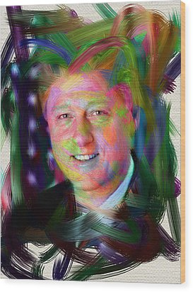 President William J. Clinton Wood Print by Official White House Photograph