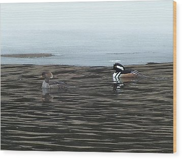 Wood Print featuring the photograph Pretty Ducks by Gene Cyr