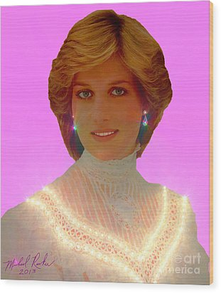 Princess Diana Wood Print by Michael Rucker