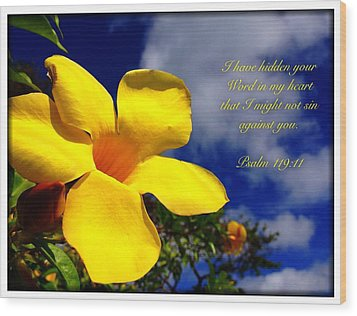 Psalm 119 11 Wood Print