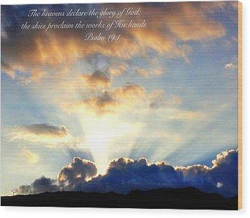 Psalm 19 1 Wood Print