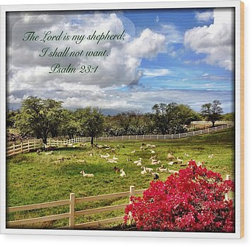 Psalm 23 1 Wood Print