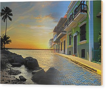 Puerto Rico Collage 4 Wood Print by Stephen Anderson