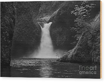 Punchbowl Falls Wood Print by Keith Kapple
