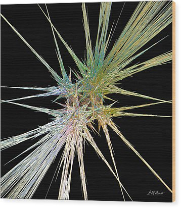 Quadstar Wood Print by Michael Durst
