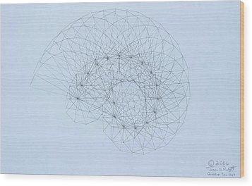 Quantum Nautilus Wood Print by Jason Padgett