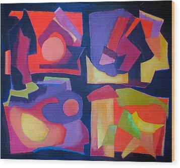 Quartet Wood Print by Diane Fine