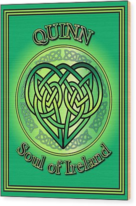 Quinn Soul Of Ireland Wood Print