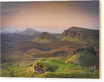 Quiraing Sunrise Wood Print by Maciej Markiewicz