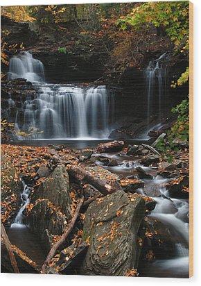R. B. Ricketts Falls Wood Print