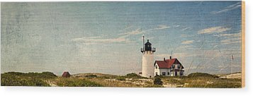 Race Point Light Wood Print by Bill Wakeley