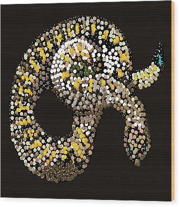 Rattlesnake Bedazzled Wood Print by R  Allen Swezey