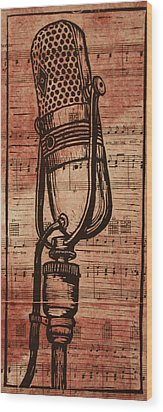 Rca 77 On Music Wood Print by William Cauthern