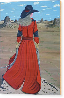 Red Wood Print by Lance Headlee
