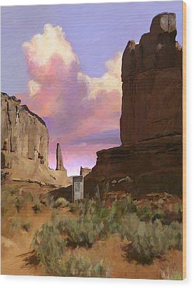 Red Rocks Wood Print by Snake Jagger