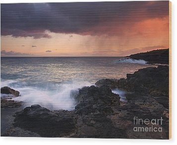 Red Storm Rising Wood Print by Mike  Dawson