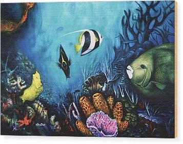 Reef Dwellers Wood Print