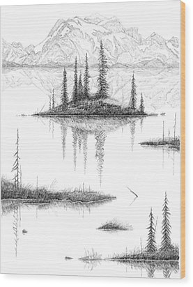 Reflections Wood Print by Carl Genovese