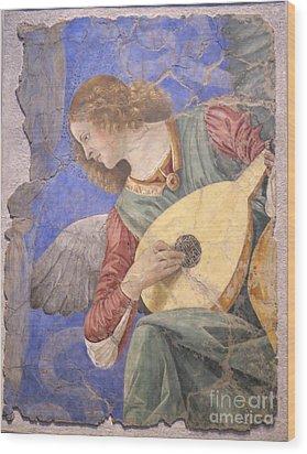 Renaissance Lute Player Wood Print
