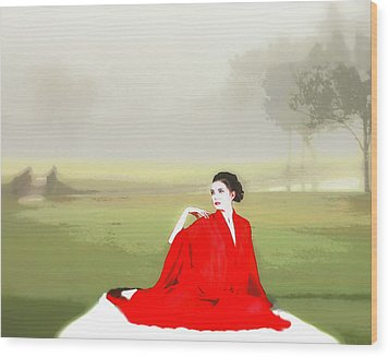 Repose In The Fog Wood Print by Richard Hemingway