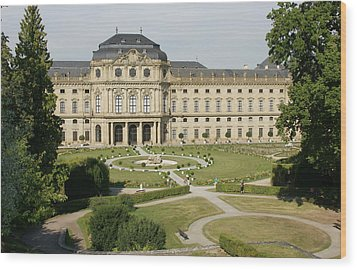 Wood Print featuring the photograph Residenz Wurzburg  by Christian Zesewitz