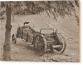 Retired But Ready Wood Print