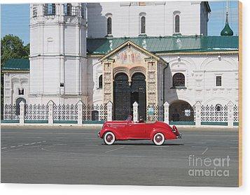 Retro Car Wood Print by Evgeny Pisarev