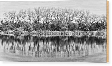 Wood Print featuring the photograph Rippled Reflection by Bill Kesler