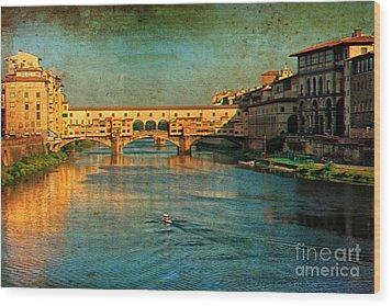 River Arno Wood Print