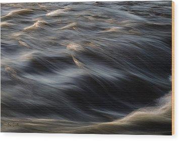 River Flow Wood Print by Bob Orsillo
