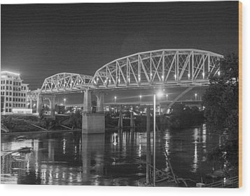 Wood Print featuring the photograph River Reflections by Robert Hebert